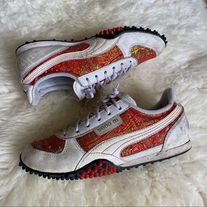 Puma 5000m Sneakers Red and Gold
